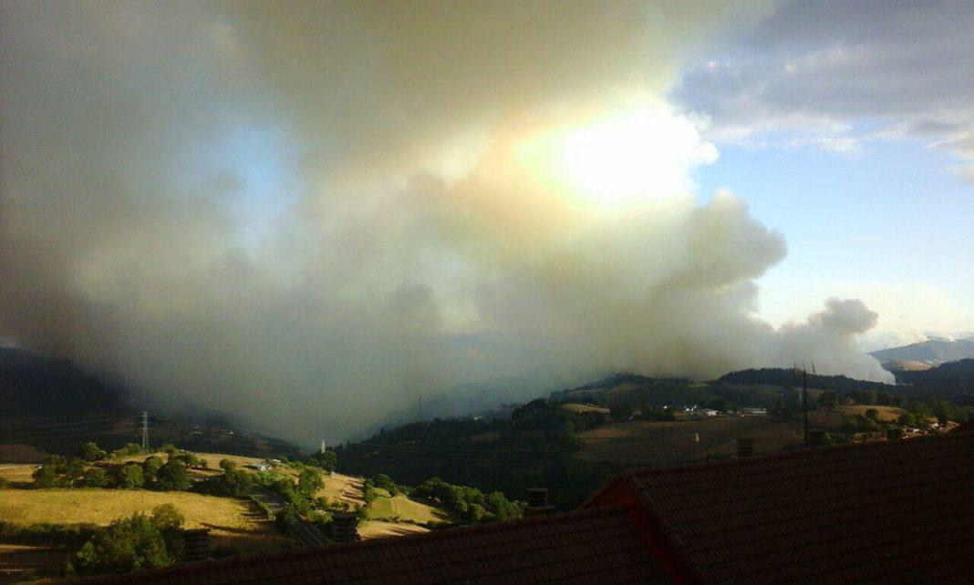 Incendio forestal Asturies 2015