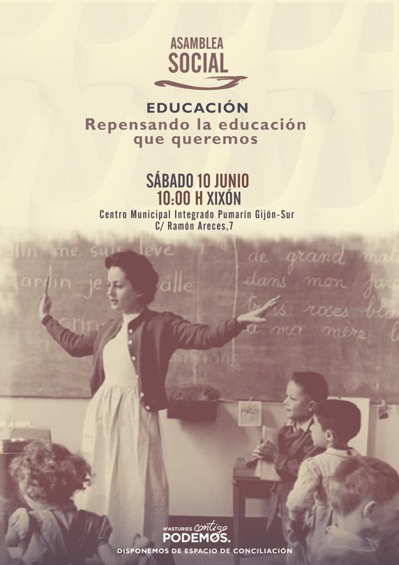 Asamblea Social. Educación. Repensando la educación que queremos.