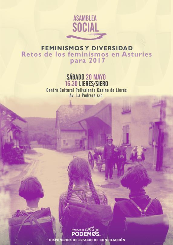 Asamblea Social. Feminismos y Diversidad. Retos delos feminismos en Asturies para 2017