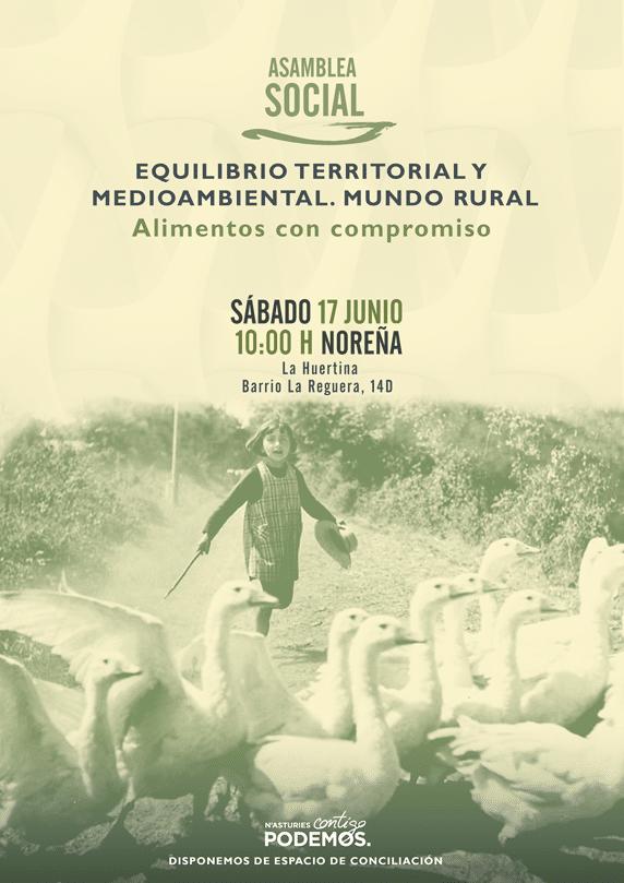 Asamblea Social. Medio Ambiente y Mundo Rural. Alimentos con compromiso
