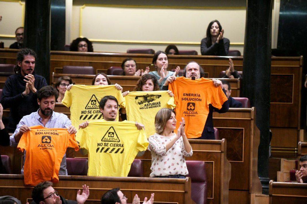 Alcoa, camisetas en el Congreso