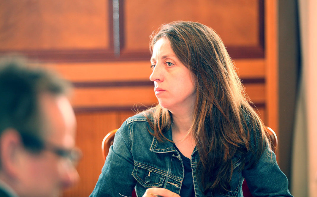 Lorena Gil en la Junta de Portavoces