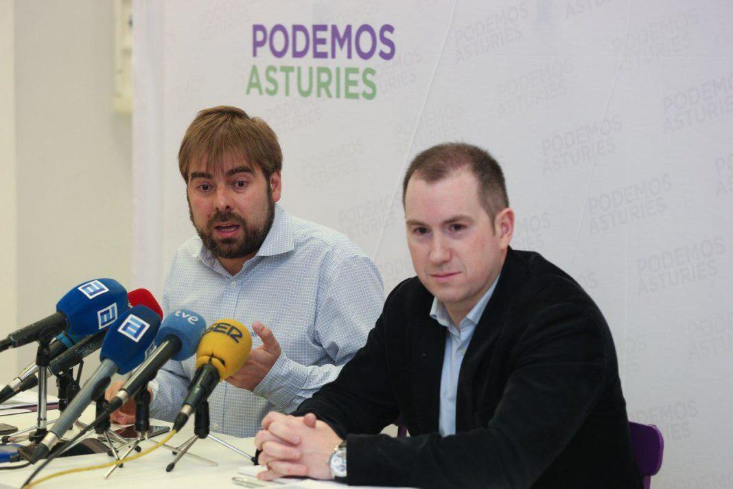 Daniel Ripa y José Gayol en la rueda de prensa sobre Teresa Mallada y el caso Hulla