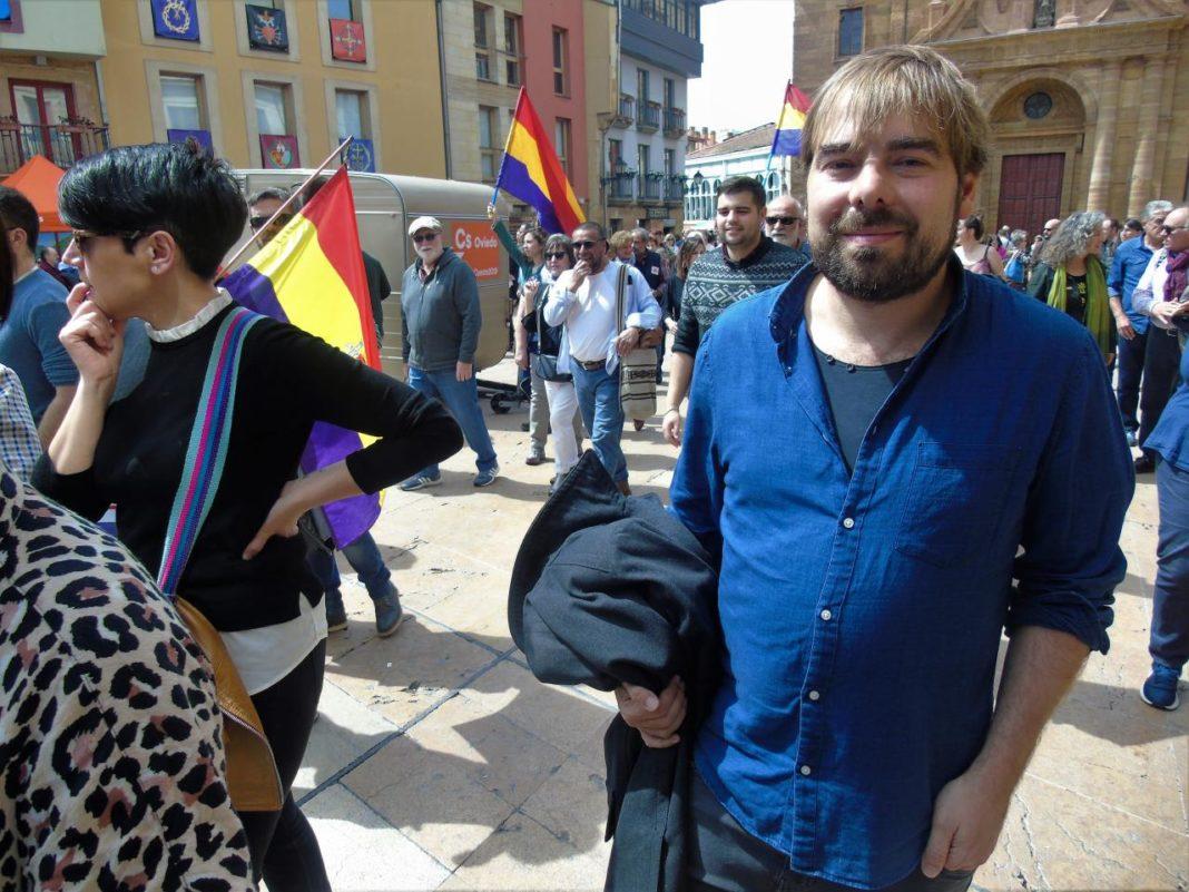 Daniel Ripa en la manifestación de la Memoria Histórica
