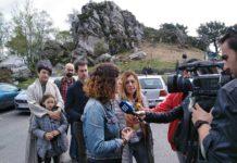 Sofía Castañon en el Fitu atendiendo a los medios