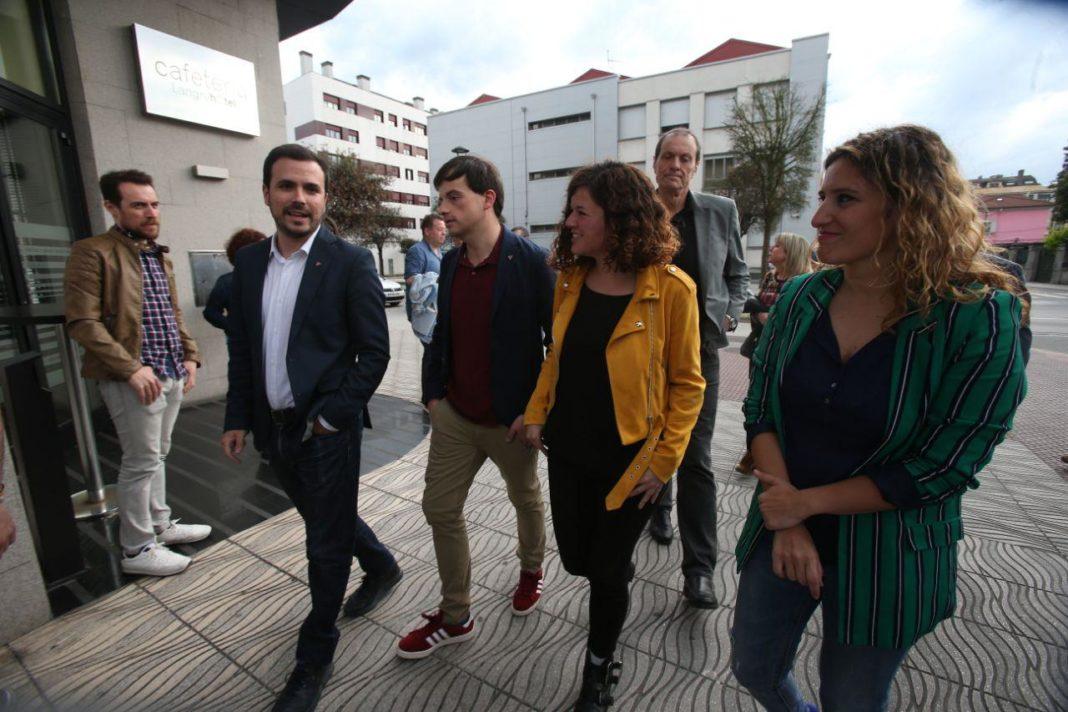 Acto en Llangréu de Unidas Podemos