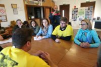 La candidata a la Presidencia, Tania González y Miguel Urbán se reunieron con representantes de los comités de Alcoa y Arcelor