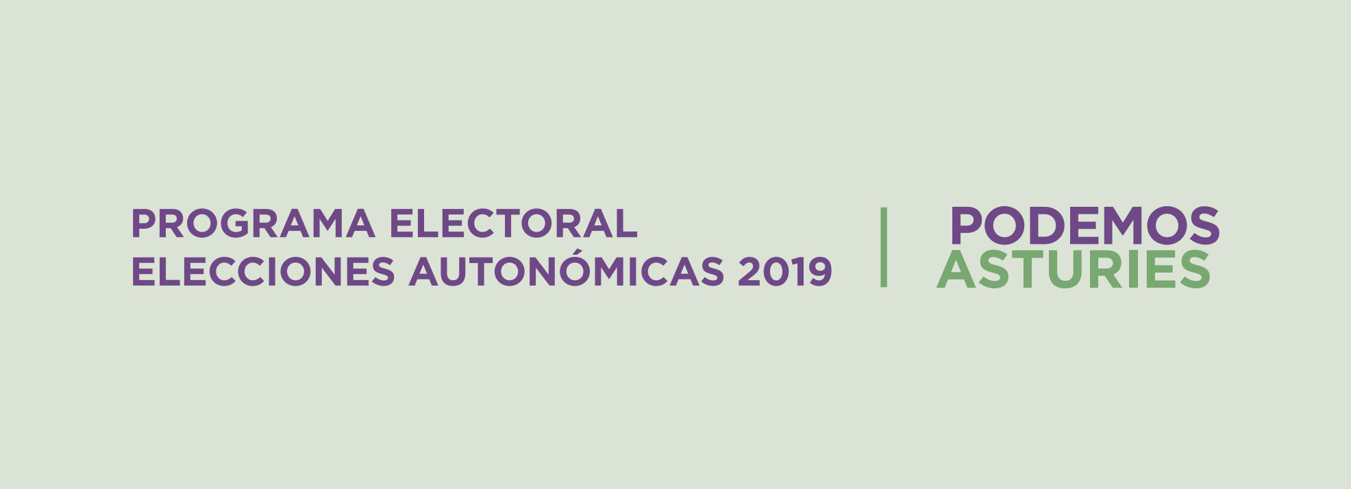 Programa electoral elecciones autonómicas 2019
