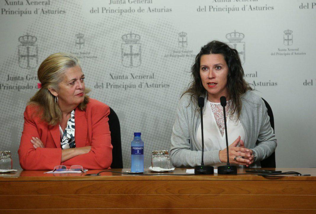 """Nuria Rodríguez y Ángeles Fal han advertido al Gobierno de la FSA que """"antes de colgarse las medallas y decir que todo está bien, hay que solucionar los problemas de los y las asturianas"""""""