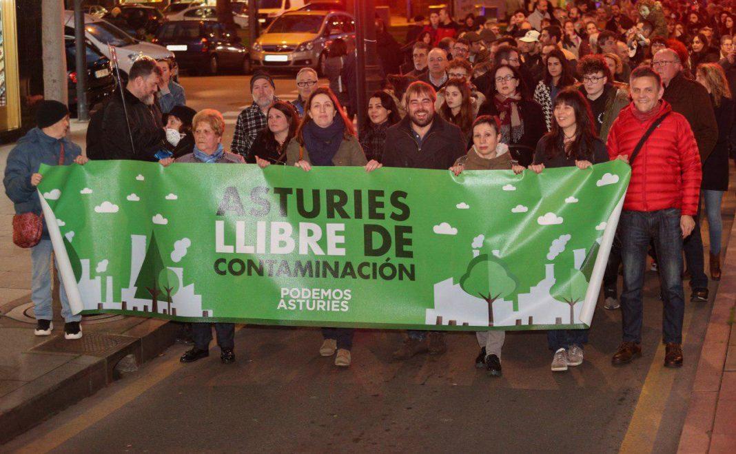 Movilización contaminación Xixón