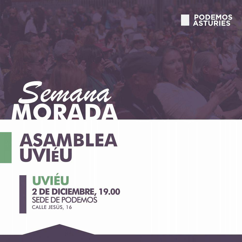 Asamblea Uviéu. 2 de diciembre, 19 horas. Sede de Podemos.
