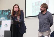 Lorena Gil y Daniel Ripa en la entrega de premios de Proyecto Asturies. Mayo de 2019