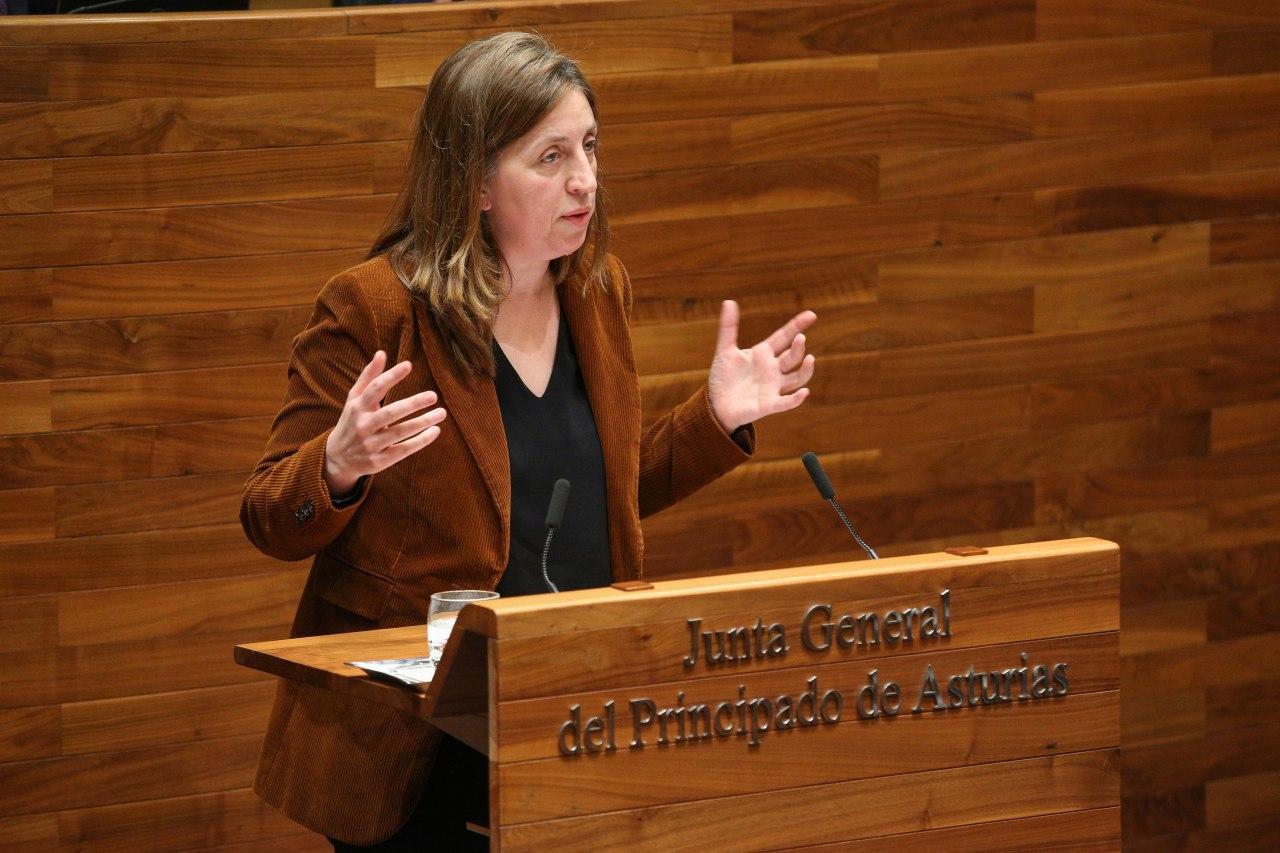 Lorena Gil en el Pleno monográfico sobre Industria en la Junta General. 29 de enero de 2020