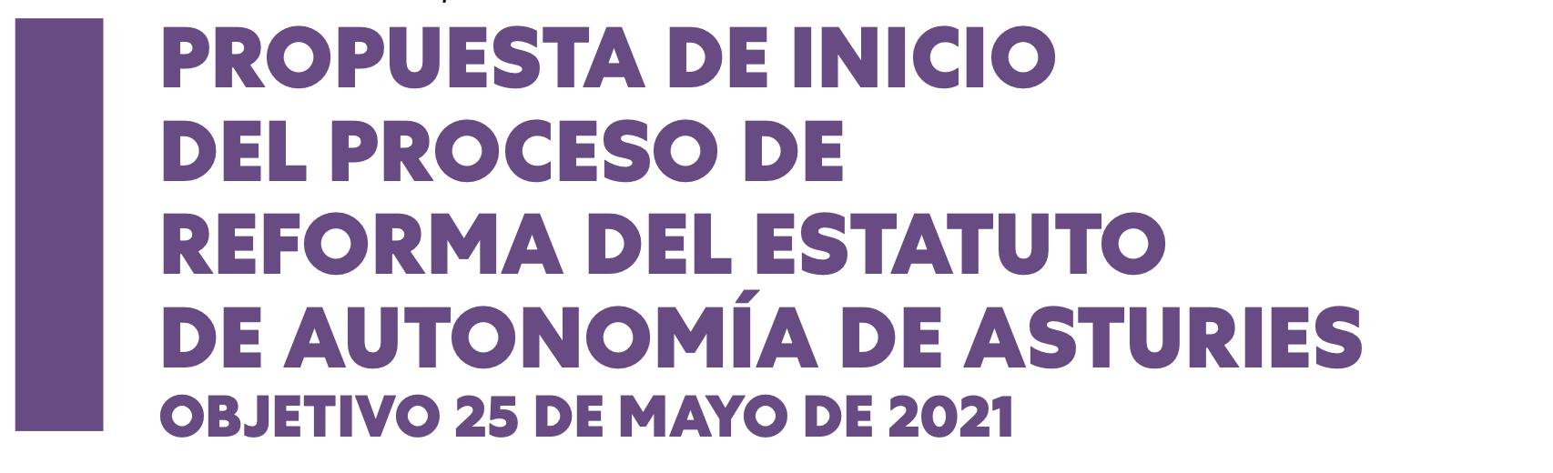 Propuesta de inicio del proceso de Reforma del Estatuto de Autonomía de Asturies