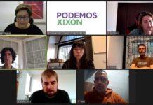 El diputado de Podemos Asturies y Laura Tuero y Juan Chaves de Podemos Xixón mantuvieron reuniones con la Unión de Comerciantes de Xixón y la plataforma Hostelería Con Conciencia