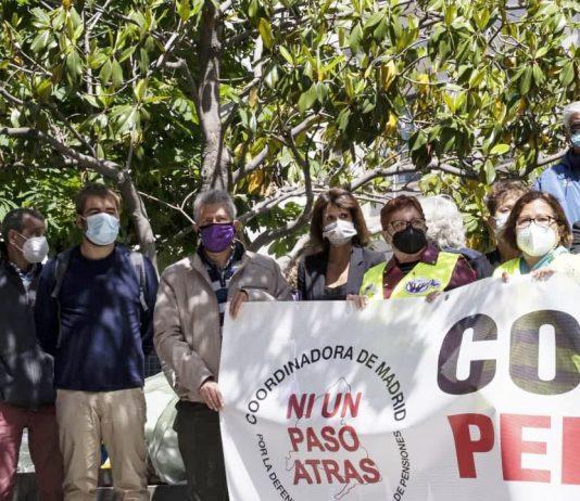 El secretario general participó en la movilización convocada por Coespe en Madrid para exigir una auditoría pública de las cuentas de la Seguridad Social