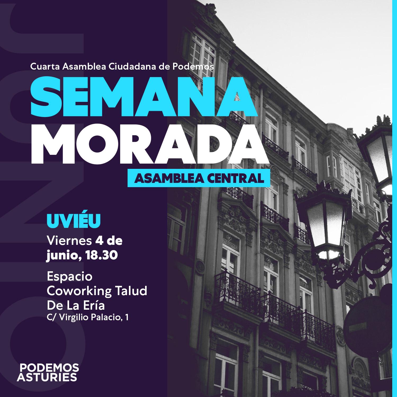 Asamblea Centra. 4 de junio, Oviedo. Espacio Coworking Talud de la Ería